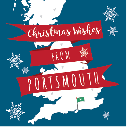 Christmas Wishes From Portsmouth Card