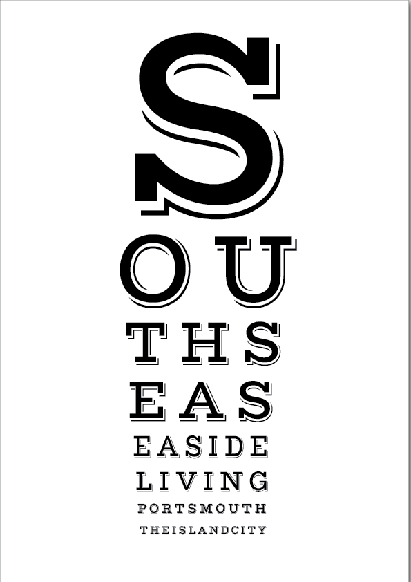 Southsea Eye Test Print