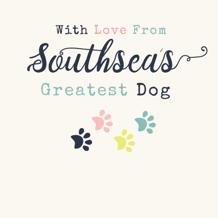 From Southsea's Greatest Dog Card