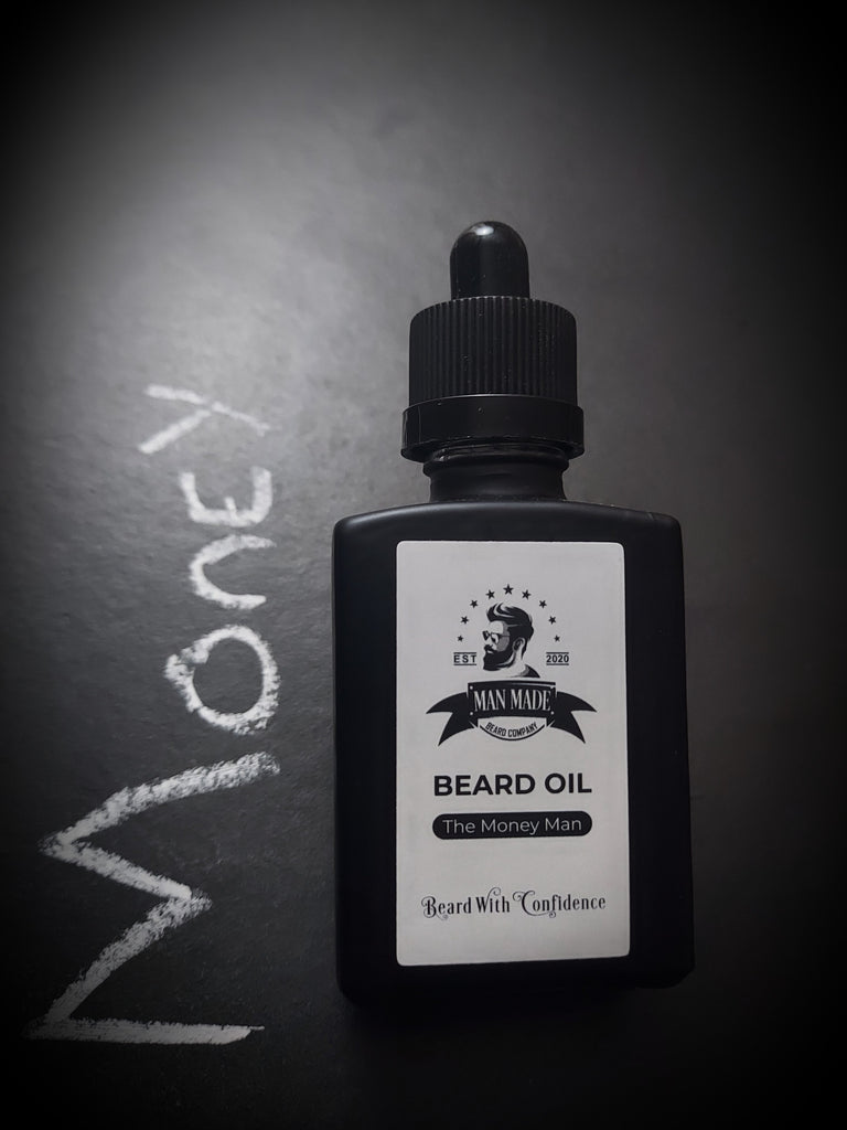 The Money Man Beard Oil (30ml Spearmint & Bergamot)