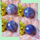 Purple Agate (dyed) Sphere – (ID: crf89)