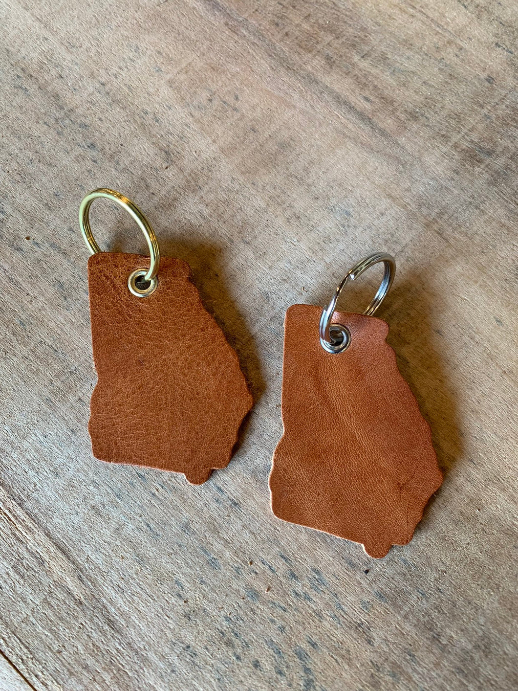 Georgia Leather Keychain