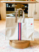 Load image into Gallery viewer, Striped Canvas Box Tote