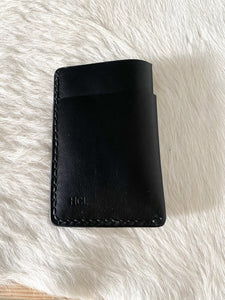 Foldover Wallet in Black-Ready to Ship