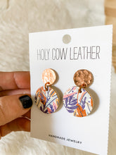 Load image into Gallery viewer, Autumn Harvest Cork and Leather Earrings