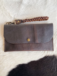 Large Clutch in Dark Chocolate