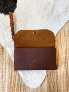 Large Clutch in Worn Saddle-Ready to Ship