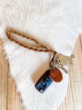 Load image into Gallery viewer, Braided Leather Wristlet Keychain