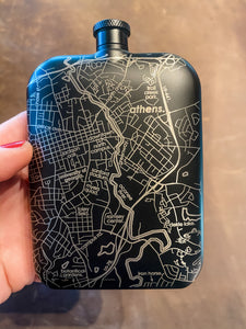 College Town Map Flask-Athens