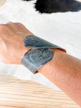 Load image into Gallery viewer, Asymmetrical Copper Patina Cuff