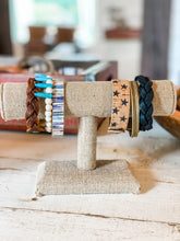 Load image into Gallery viewer, Braided Leather Bracelet in Worn Saddle