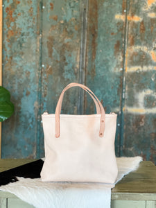 Small Refined Jenny Tote in Natural Veg Tan-Ready to Ship