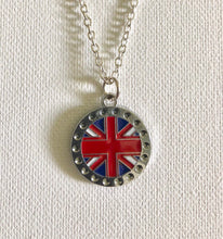 Load image into Gallery viewer, Union Jack Necklace British Flag Necklace UK Flag Necklace British Pride For Anglophiles British Flag Jewelry Union Jack Jewelry