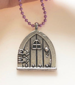 Fairy Door Necklace Fairy Door Jewelry Fantasy Necklace Magical Book Whimsical Jewelry Role Play Game Lover Gift Geek Gift Fandom Present