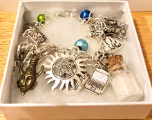Load image into Gallery viewer, The Super Natural Bracelet Monster Hunter Brothers Charm Bracelet Mysterious Paranormal Super Fandom Jewelry Geek Gift Fandom Gift