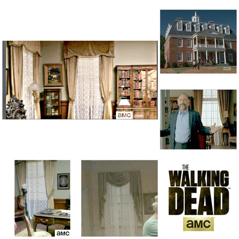 walking dead 6.11 Barrington home drapes
