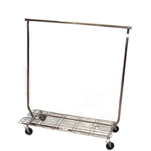 COLLAPSIBLE ROLLING RACK WITH BOTTOM RACK