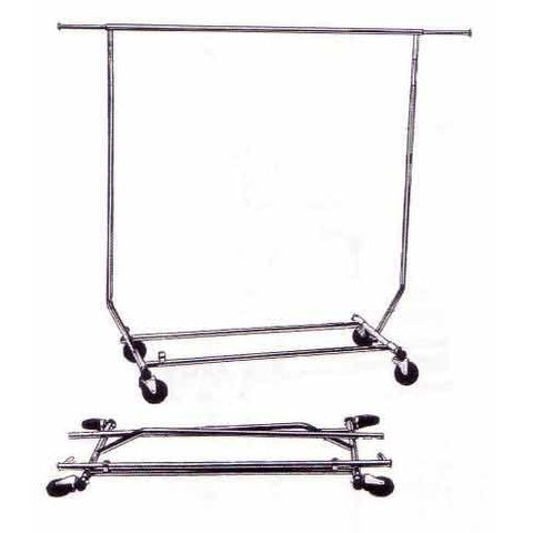COLLAPSIBLE ROLLING RACK WITH NO BOTTOM RACK