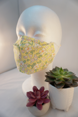 COTTON FACE MASK WITH FILTER POCKET: Flowers & Plants Collection