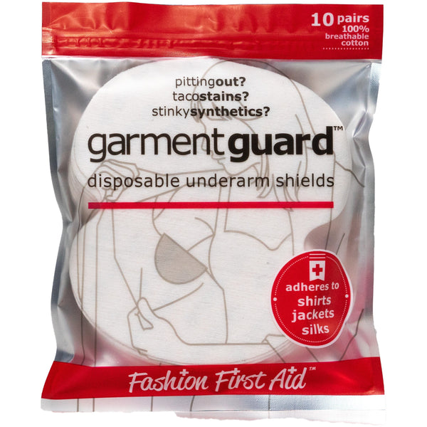 GARMENT GUARD: THE ORIGINAL COTTON DISPOSABLE ADHESIVE UNDERARM SHIELDS