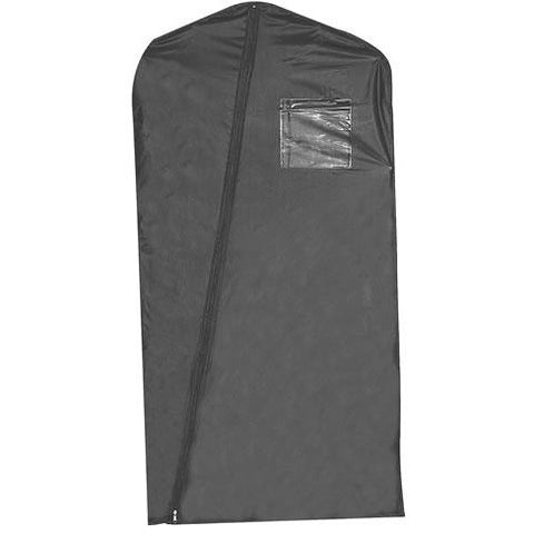 "46"" BLACK VINYL GARMENT BAG"