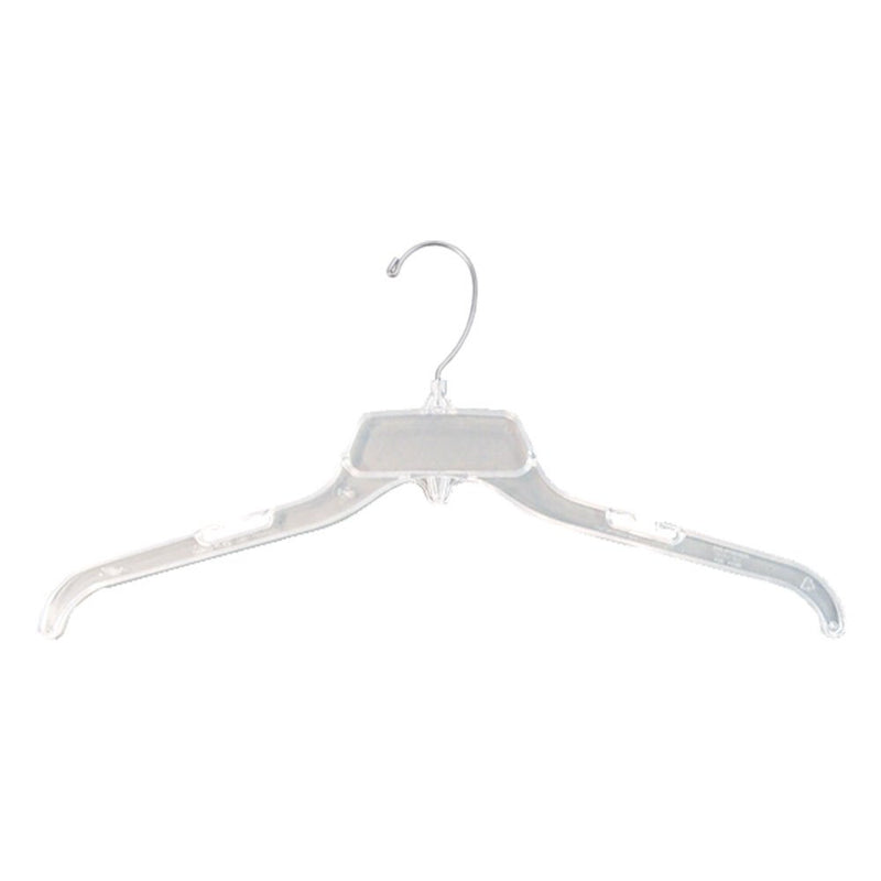 "19"" CLEAR PLASTIC DRESS/SHIRT HANGER"