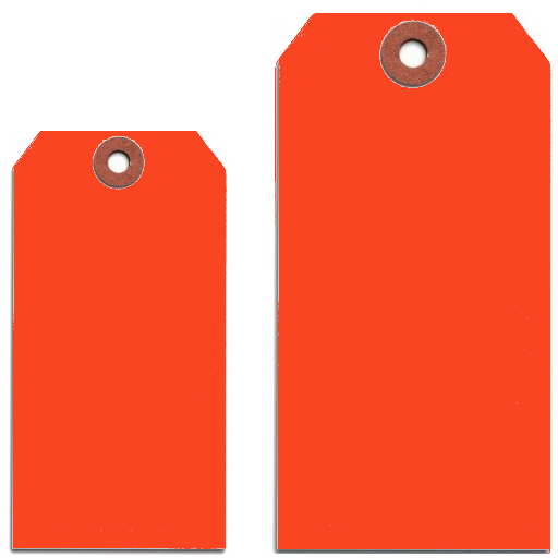 FLUORESCENT RED TAGS