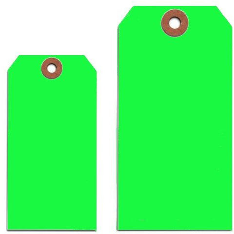 FLUORESCENT GREEN TAGS