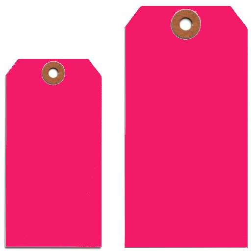 FLUORESCENT PINK TAGS