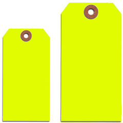 FLUORESCENT YELLOW TAGS
