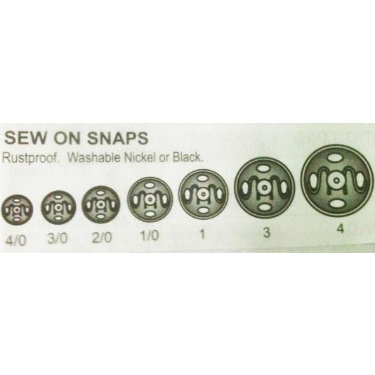 SEW-ON SNAPS (NICKEL)