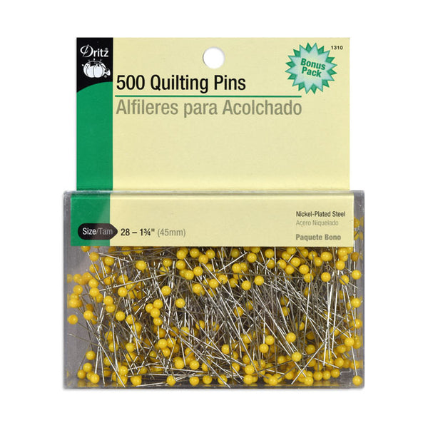 DRITZ:  500 QUILTING PINS - SIZE 28