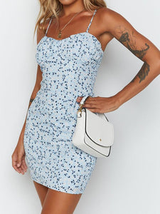 Sexy tube top sling print dress