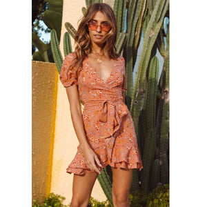 Foreign trade cross-border new holiday strap dress