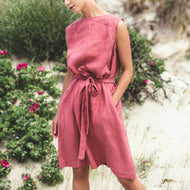 Linen Sleeveless Dresses