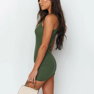 Fashion casual sexy vest dress