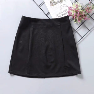 High waist sexy wrap hip skirt