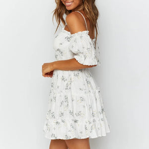 Dress summer retro strapless printed short skirt