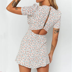 Fashionable short mini dress