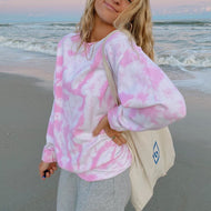 Tie-dye Simple Long Sleeve Sweatshirts