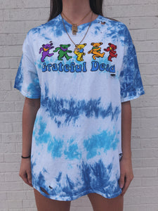 Round neck short sleeve tie-dye casual cotton tee