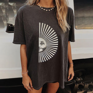 Casual fashion short sleeve printed street T-shirt