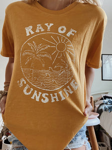 Round Neck Short Sleeve Sunshine Tee