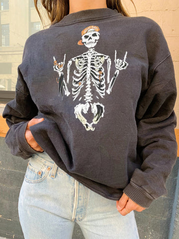 Personalized skull loose casual sweater