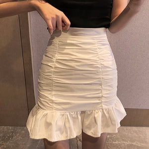 Sexy buttocks ruffled fishtail skirt
