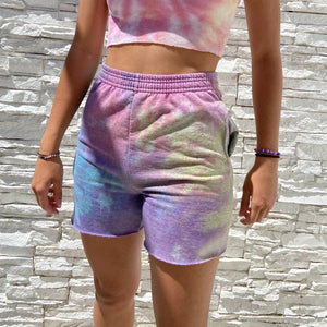 Tie-dye tight casual shorts