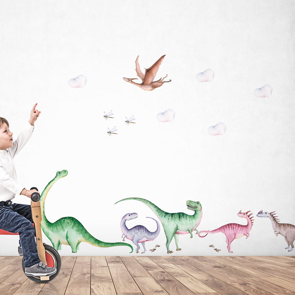 kids bedroom wall stickers, nursery wall stickers, wall stickers, wall decal , wall tattoo, dinosaurs wall sticker, large dinosaurs wall sticker, boys wall sticker, girls wall sticker, wall stickers with dinosaurs, scandinavian wall stickers, kids bedroom ideas, nursery ideas, nordic wall stickers, wall decor ideas
