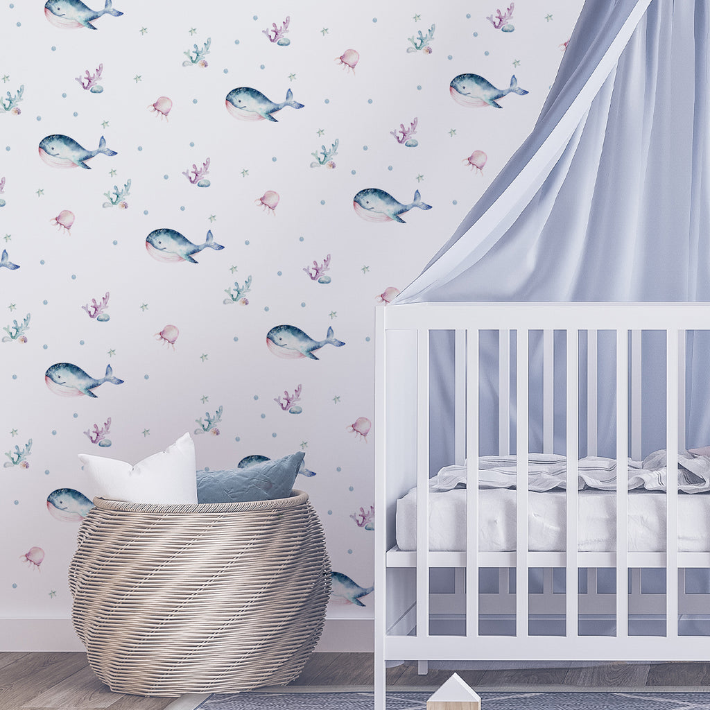 kids bedroom wall stickers, nursery wall stickers, wall stickers, wall decal , wall tattoo, ocean wall sticker, under the sea wall sticker, whales wall sticker, boys wall sticker, wall stickers with whales, scandinavian wall stickers, kids bedroom ideas, nursery ideas, nordic wall stickers, wall decor ideas