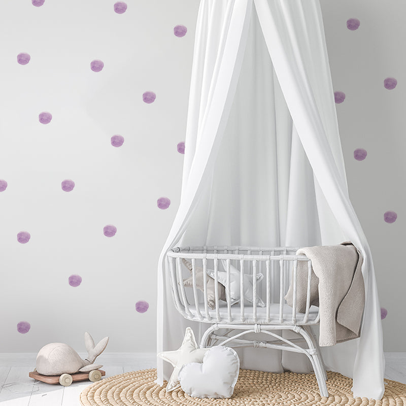 Pastel watercolour dots wall stickers