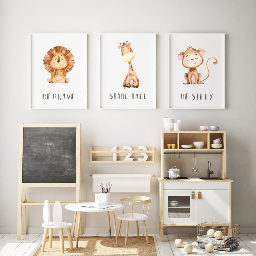 Character animals - Lion Fine Art Print